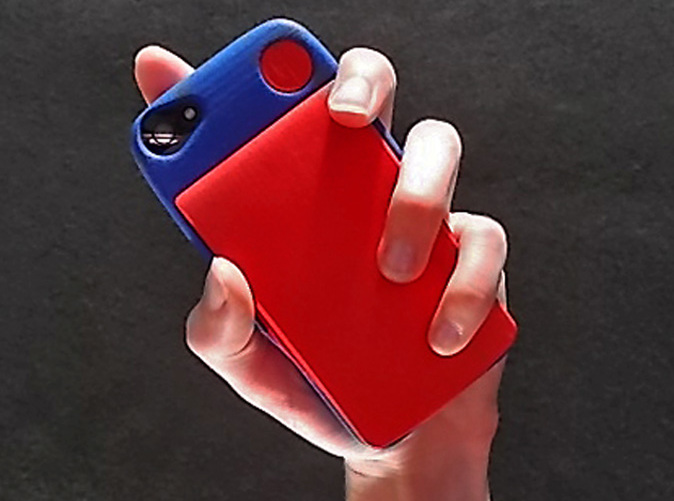 iPhone 5S kit-case shown in Royal Blue with ULTRA SLIM Wallet Accesory
