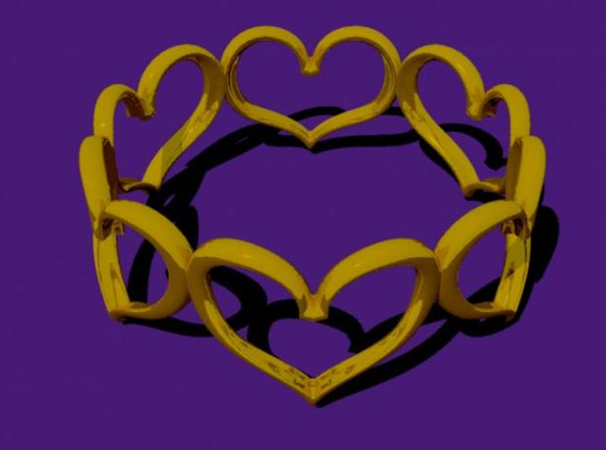 These hearts are welded together in an unbroken loop.