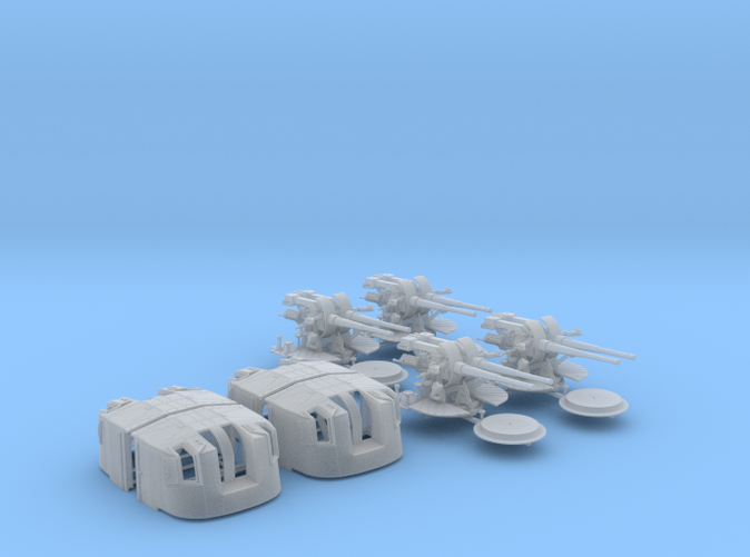 """1/144 Tribal Class 4.7"""" MKXII CPXIX Twin Mount x4"""