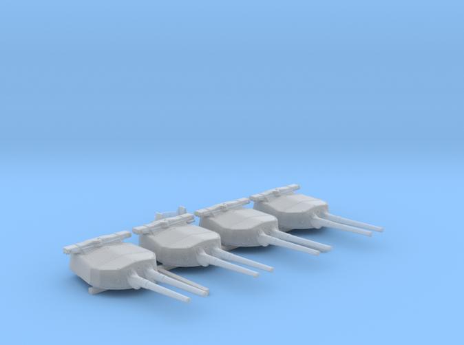 """1/720 HMS Hood 15"""" Mark II Turrets 1941 B. Bags"""
