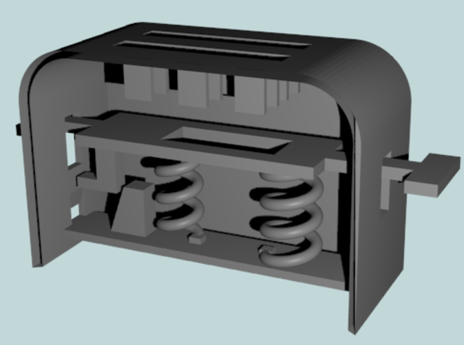 Render of Toaster Internals