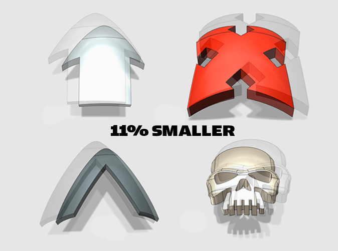 Sized to fit Mk 3 shoulderpads