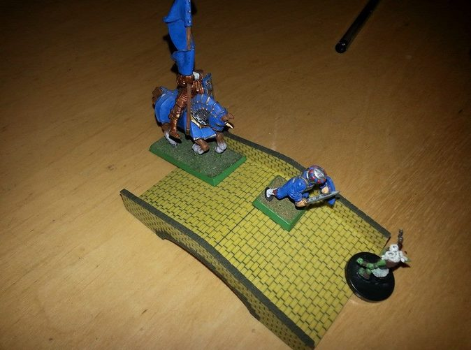 The Bridge loaded up with 25 mm miniatures