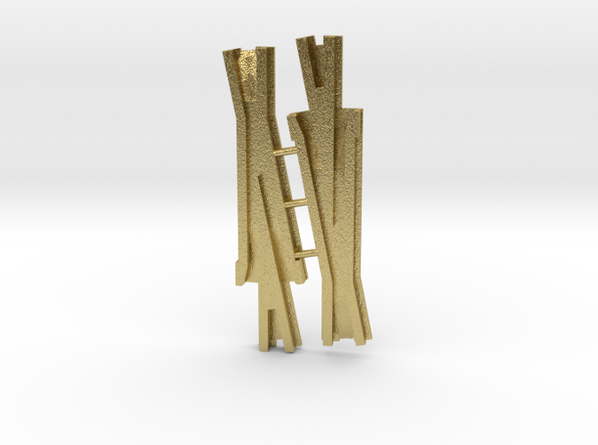 As printed by Shapeways in Brass