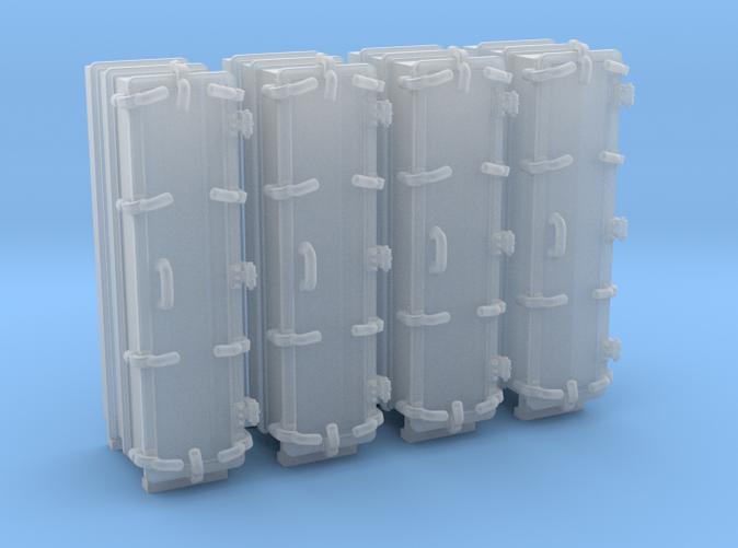 """1/144 Royal Navy 4.7"""" Ready Use Lockers (Tall) x4"""