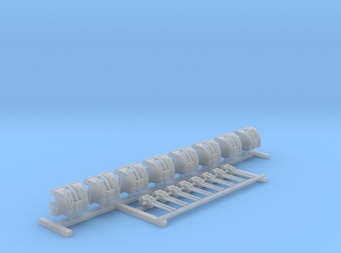 """1/600 RN 4""""/45 (10.2 cm) QF Mark XVI Guns x8"""