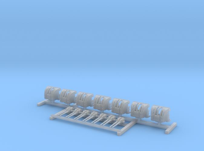 """1/600 HMS Hood 4""""/45 (10.2 cm) QF Mark XVI Guns x7"""
