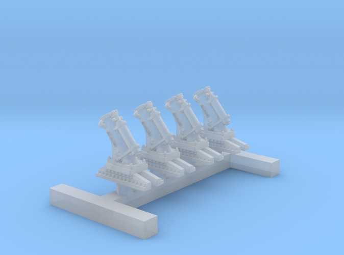 1/350 MKII Depth Charge Throwers (No Charges) x4