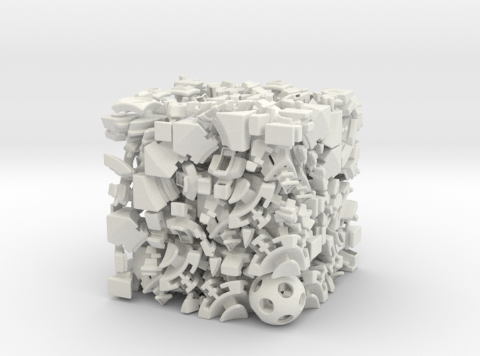 The 281 parts you'll get from Shapeways