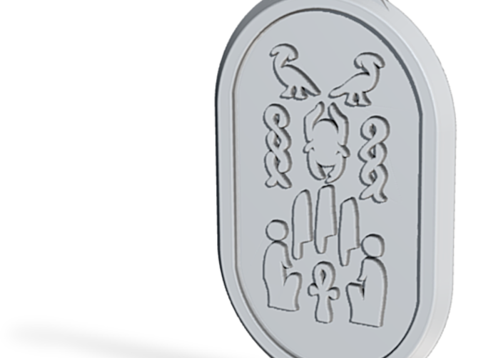 Scarab side view of the design on one side.