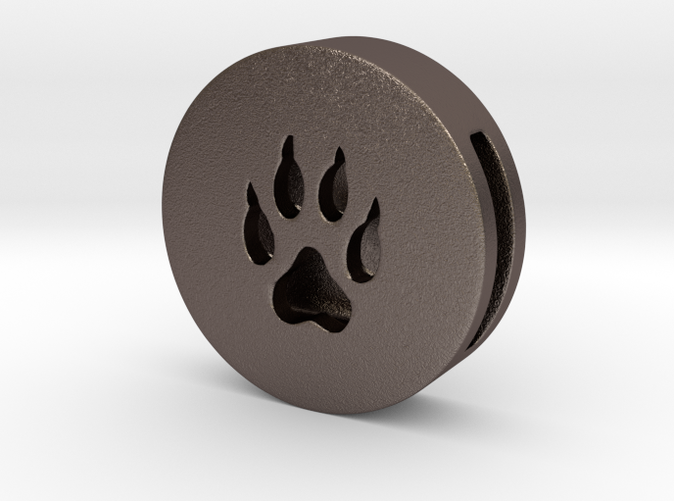 Band Charm - Wolf Paw steel