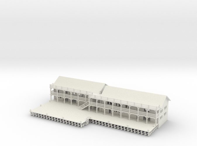Ship Dock With Buildings Z scale