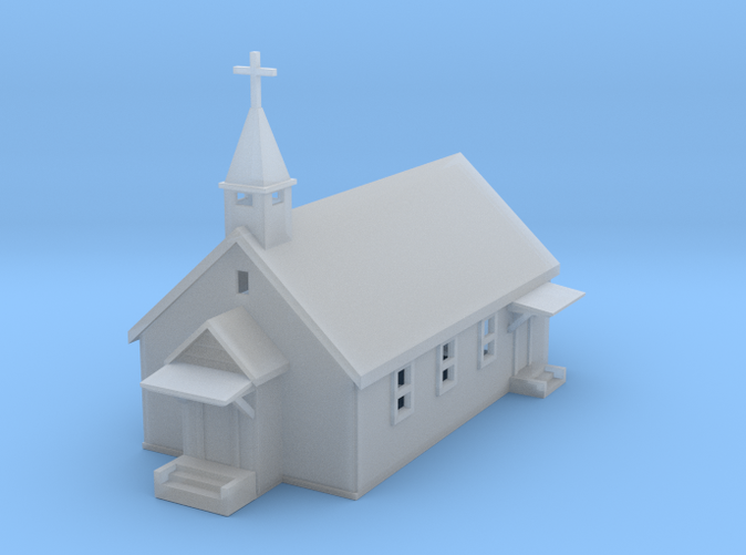 Country Church Z scale