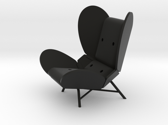 FREE-WING LOUNGE CHAIR by RJW Elsinga 1:10
