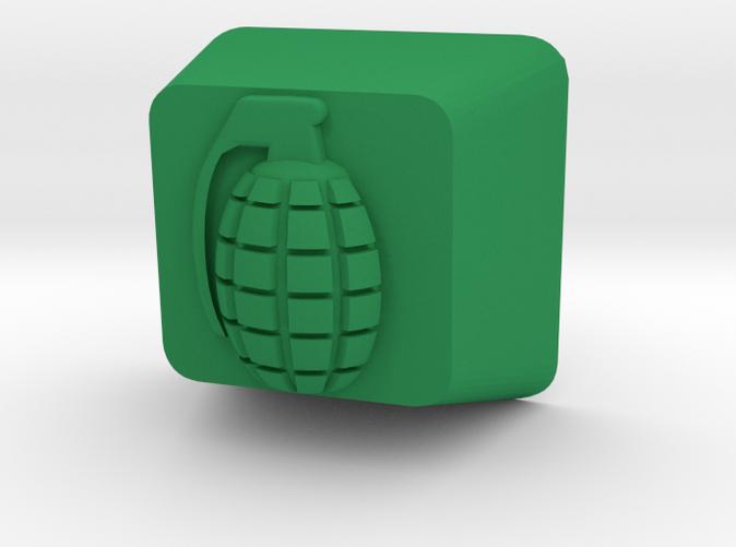 Custom Cherry MX Grenade Keycap in GreenStrong & Flexible plastic