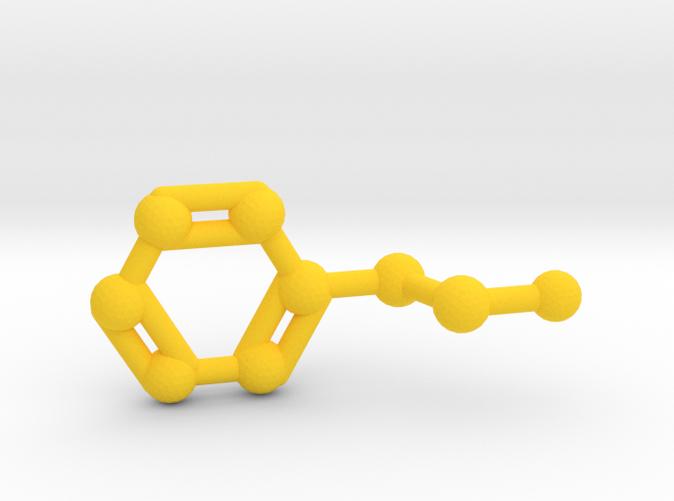 Phenethylamine Molecule Keychain Pendant