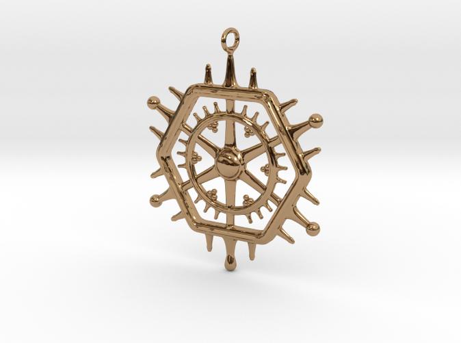 Pendant Circle inPolished Brass