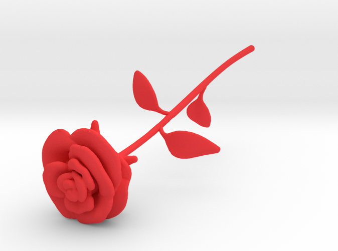 Rose Red Shapeways render