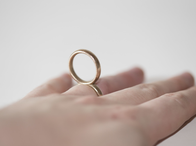 The RingRing, printed in stainless steel.