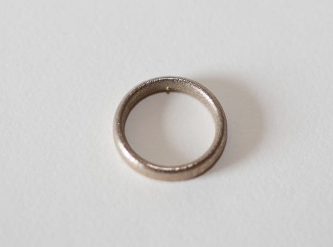 The Pain Ring from our Fetish collection, 3D printed in stainless steel.
