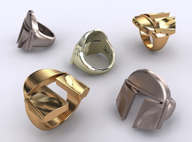 Stainless steel, gold plated matte & premium silver render