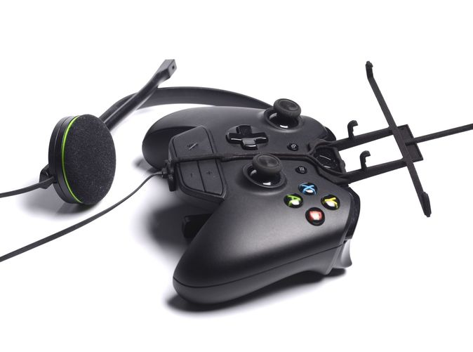 Without phone - A Samsung Galaxy S3 and a black Xbox One controller & chat