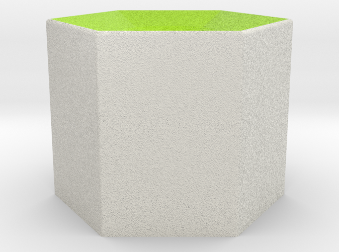 Shapeways render of Column Display Stand for SELFLESSNESS in Full Color Sandstone