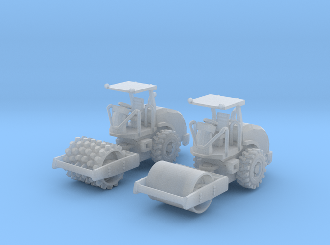 2 CS44 cat soil compactors Z scale