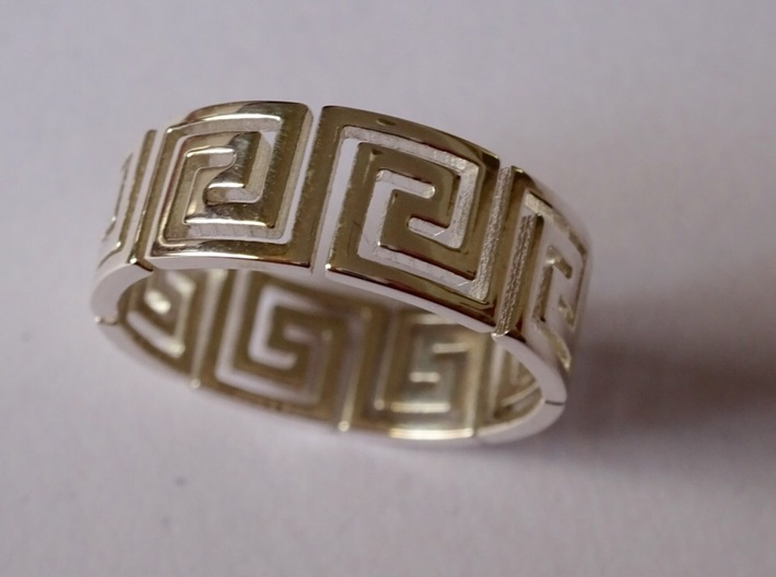 Greek Ring Silver - size 7.25 3d printed