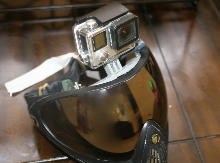 GoPro Mount-Dye Paintball Mask 3d printed