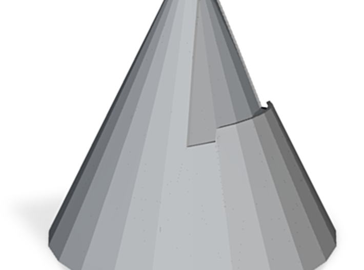 zz - Cone stand - 3in base, Gray 3d printed