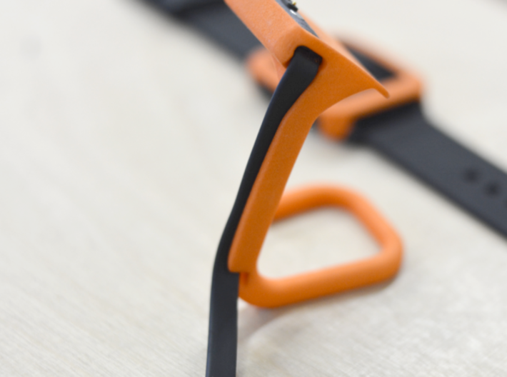 Charging dock for Pebble Time, Steel, Time 2, etc! 3d printed Detail view of the cable holding structure. So much wow.