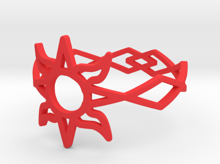 Solar Flare Ring Size 11 3d printed