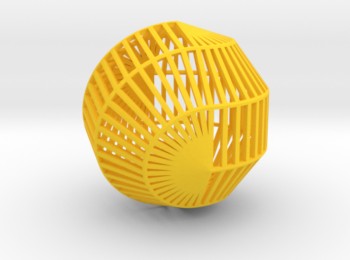 Wire (10, 2)-Sphericon medium kinetic toy 3d printed