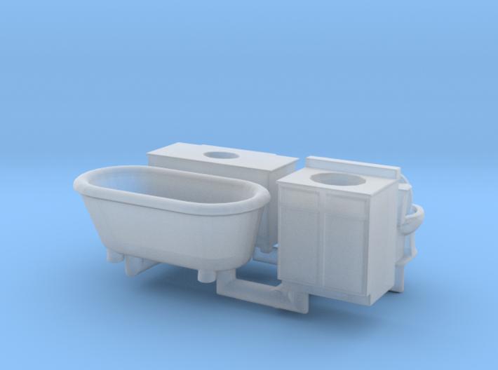 Bathroom details N Scale 3d printed