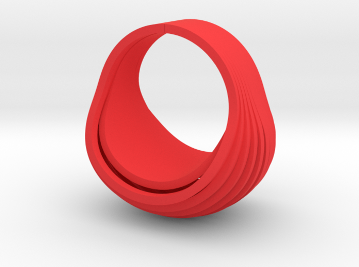 OvalRing (size: US 6 3/4; EU 14) 3d printed