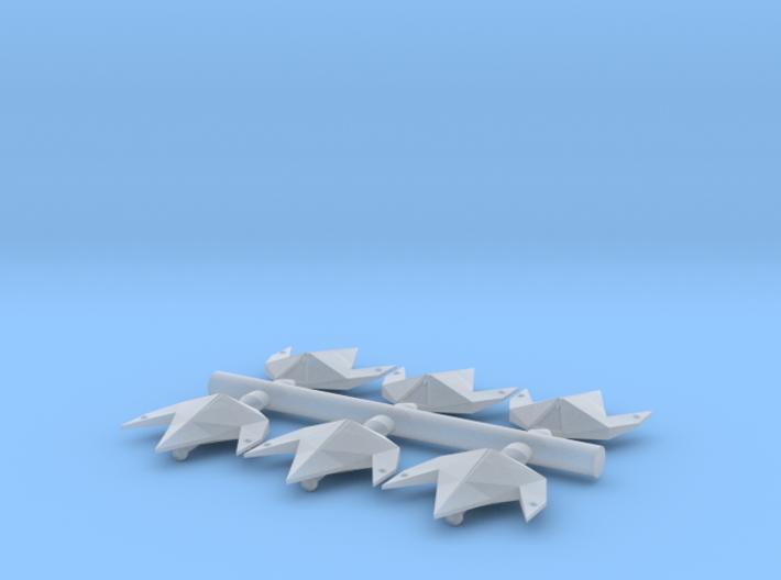 2400 Swarm Fighters x6 3d printed