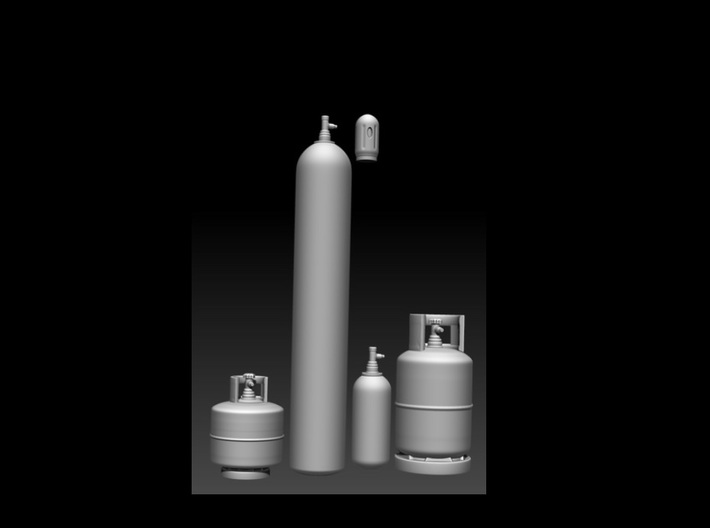gas cylinders in 1:32 3d printed