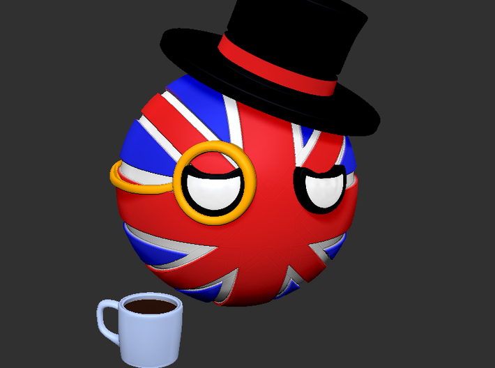 Countryballs UK cup 3d printed Countryballs UK cup - 3D render