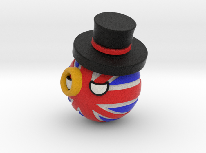 Countryballs UK with hat and monocle 3d printed Countryballs UK with hat and monocle - Full Color Sandstone