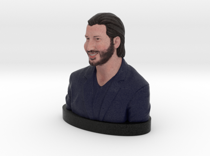Keanu Reeves Happy Bust 3d printed Keanu Reeves - Full Color Sandstone