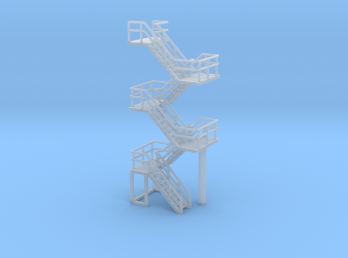 N Scale Staircase 57.4mm 3d printed