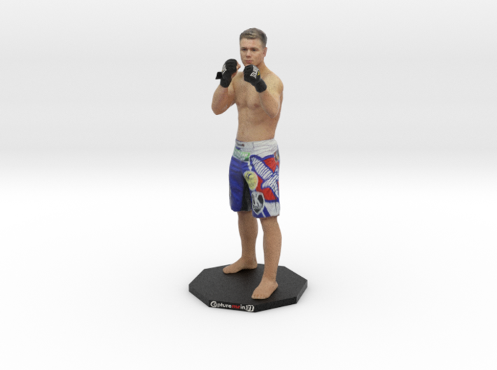 "Chris Wade MMA - 6"" Figurine on Octogon Base 3d printed"