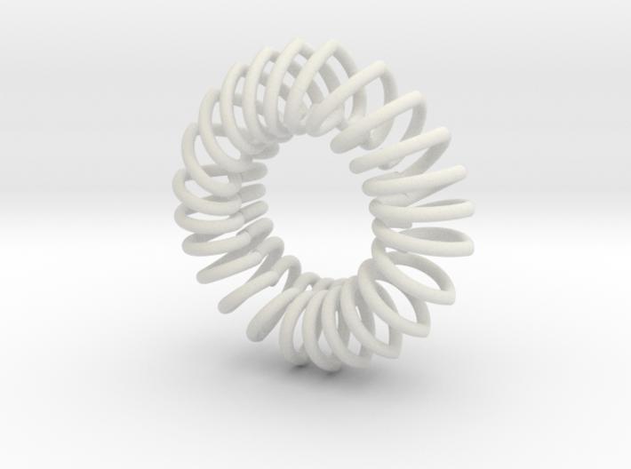 Herz Band Ring 10 Inn 3d printed