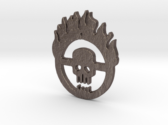 flaming skull 3d printed