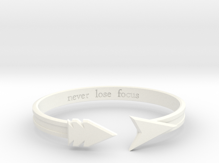 "Ashe ""never lose focus"" Bracelet 3d printed"