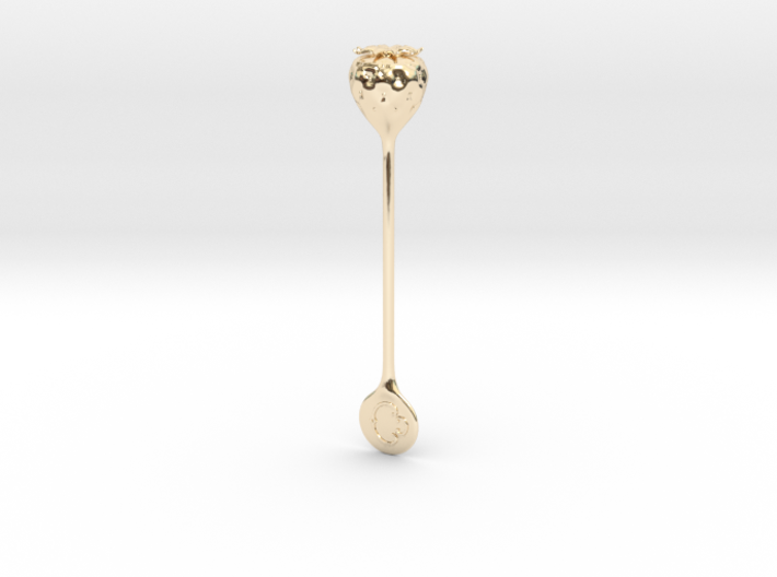 Caxton Rhode Strawberry Stirrer Precious Edition 3d printed