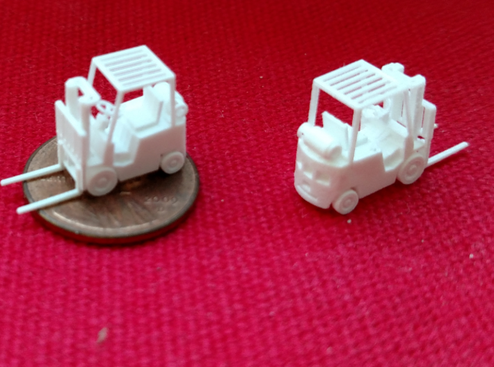 Yale Forklift (N - 1:160) 5X 3d printed Size comparison of real product