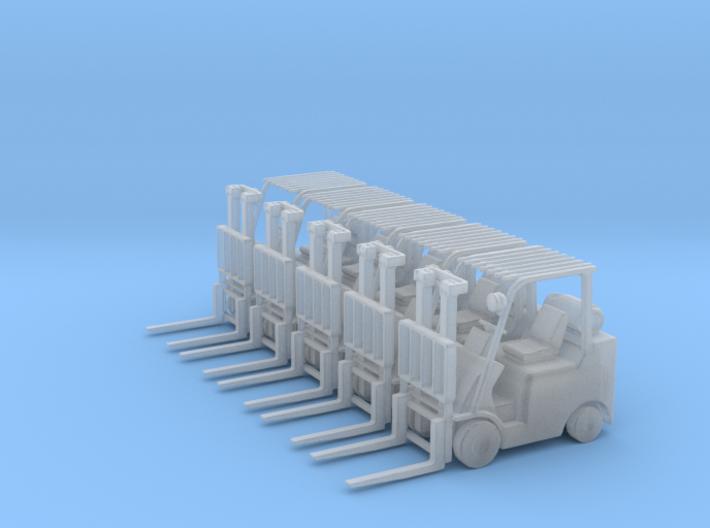 Mitsubishi FGC30N Forklift (N-1:160) 5X 3d printed