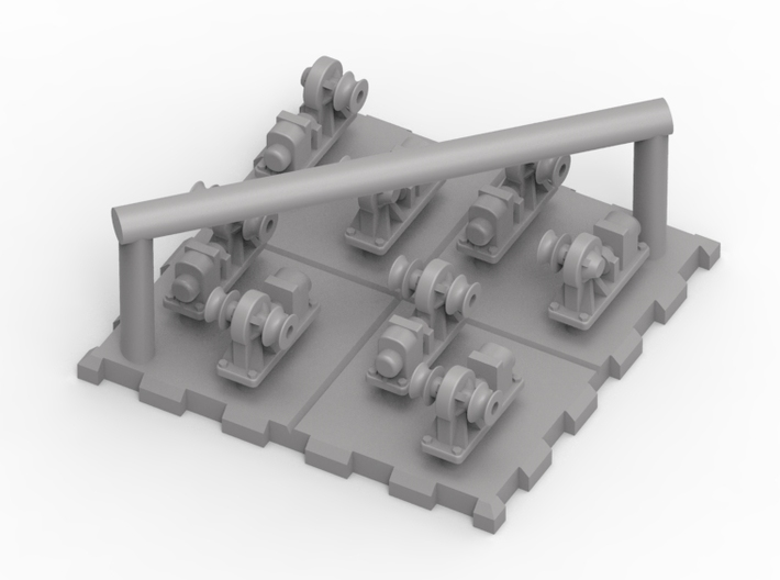 1/700 IJN Deck Winches Single & Double 3d printed